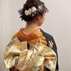 結婚式 謝恩会 ロング ナチュラル ヘアスタイルや髪型の写真・画像