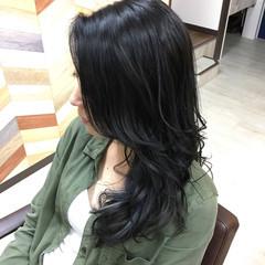 アッシュグレージュ ロング ダークアッシュ 透明感 ヘアスタイルや髪型の写真・画像
