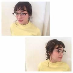 ナチュラル ヘアアレンジ ロング シースルーバング ヘアスタイルや髪型の写真・画像