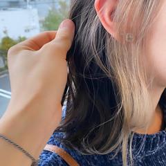 ナチュラル ブリーチオンカラー ヌーディベージュ ベージュ ヘアスタイルや髪型の写真・画像