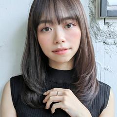 エレガント ミディアム 韓国ヘア パーティ ヘアスタイルや髪型の写真・画像