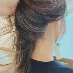 夏 ハイライト インナーカラー ゆるふわ ヘアスタイルや髪型の写真・画像