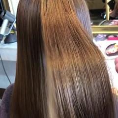 ロング 髪質改善カラー 髪質改善トリートメント 縮毛矯正 ヘアスタイルや髪型の写真・画像