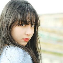 黒髪 フェミニン ヘアアレンジ ロング ヘアスタイルや髪型の写真・画像