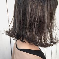 抜け感 ナチュラル ボブ 切りっぱなし ヘアスタイルや髪型の写真・画像