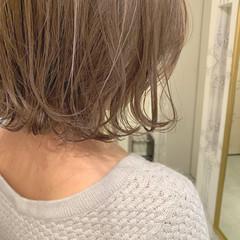 暗髪 ショート ハイライト ヘアアレンジ ヘアスタイルや髪型の写真・画像