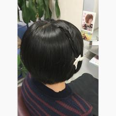ボブ ショート 黒髪 ヘアアレンジ ヘアスタイルや髪型の写真・画像