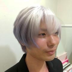 メンズ 外国人風 グラデーションカラー モード ヘアスタイルや髪型の写真・画像