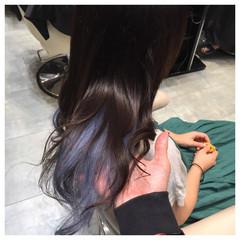 暗髪 ヘアアレンジ アッシュ ガーリー ヘアスタイルや髪型の写真・画像