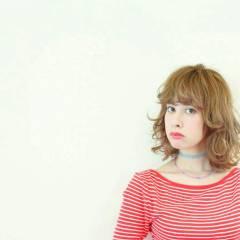 ミディアム ストリート 外国人風 ヘアスタイルや髪型の写真・画像