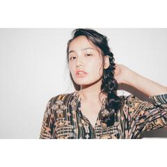 ナチュラル 艶髪 夏 ロング ヘアスタイルや髪型の写真・画像
