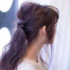 ヘアアレンジ ルーズ ストリート フェミニン ヘアスタイルや髪型の写真・画像
