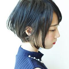 秋冬ショート 小顔ショート コンサバ ショートボブ ヘアスタイルや髪型の写真・画像