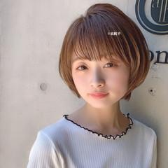 ミニボブ オフィス ナチュラル デート ヘアスタイルや髪型の写真・画像
