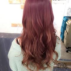 艶髪 かわいい グラデーションカラー ピンク ヘアスタイルや髪型の写真・画像