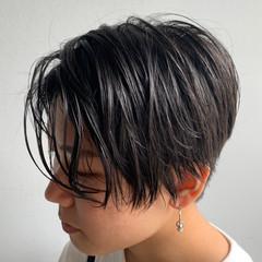 ハンサムショート モード ベリーショート ショートカット ヘアスタイルや髪型の写真・画像