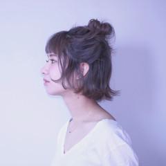ストリート 簡単ヘアアレンジ 女子会 ハイトーン ヘアスタイルや髪型の写真・画像