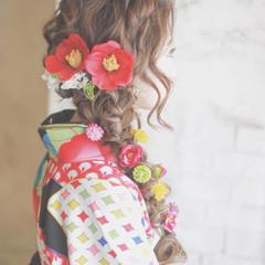 花 ヘアアレンジ ロング 簡単ヘアアレンジ ヘアスタイルや髪型の写真・画像