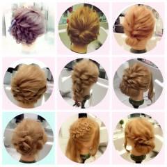 編み込み ショート ヘアアレンジ 簡単ヘアアレンジ ヘアスタイルや髪型の写真・画像