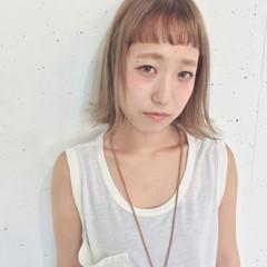 外国人風 ボブ 前髪あり ストリート ヘアスタイルや髪型の写真・画像