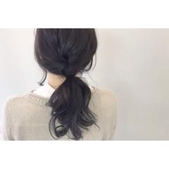 黒髪 ヘアアレンジ デート ナチュラル ヘアスタイルや髪型の写真・画像