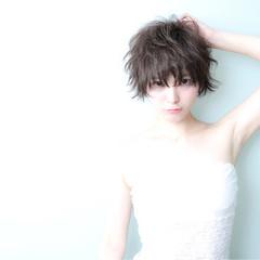 大人かわいい ショート 大人女子 モード ヘアスタイルや髪型の写真・画像