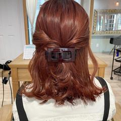 外国人風カラー オレンジベージュ オレンジブラウン 外国人風 ヘアスタイルや髪型の写真・画像