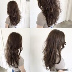 イルミナカラー ロング 抜け感 ナチュラル ヘアスタイルや髪型の写真・画像