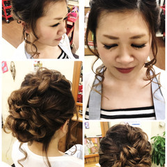 結婚式 ミディアム 女子会 デート ヘアスタイルや髪型の写真・画像