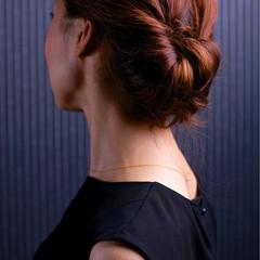 まとめ髪 セミロング 簡単ヘアアレンジ コンサバ ヘアスタイルや髪型の写真・画像