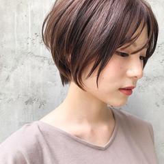 ハンサムショート ヘアアレンジ アッシュブラウン アッシュ ヘアスタイルや髪型の写真・画像