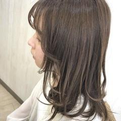 トリートメント 大人ロング イルミナカラー セミロング ヘアスタイルや髪型の写真・画像
