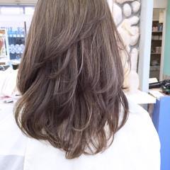 外国人風 フェミニン 大人かわいい ブラウン ヘアスタイルや髪型の写真・画像