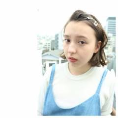 ガーリー ナチュラル ストレート ヘアアレンジ ヘアスタイルや髪型の写真・画像