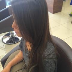 グラデーションカラー ロング 透明感 ナチュラル ヘアスタイルや髪型の写真・画像