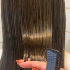 ロング ナチュラル ツヤ髪 髪質改善トリートメント ヘアスタイルや髪型の写真・画像