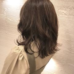 韓国 大人女子 大人ミディアム ミディアム ヘアスタイルや髪型の写真・画像
