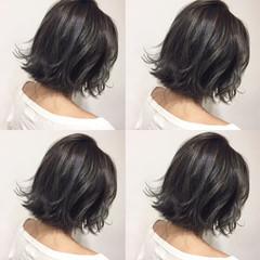 ガーリー ボブ 暗髪 外国人風 ヘアスタイルや髪型の写真・画像