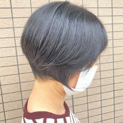 ショートボブ 丸みショート ショートカット ハンサムショート ヘアスタイルや髪型の写真・画像