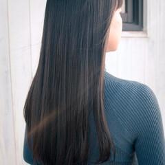 美髪 黒髪 トリートメント ナチュラル ヘアスタイルや髪型の写真・画像