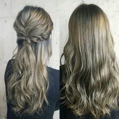 フェミニン 外国人風 大人女子 ロング ヘアスタイルや髪型の写真・画像