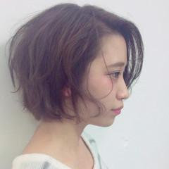ショート ボブ 大人かわいい パーマ ヘアスタイルや髪型の写真・画像