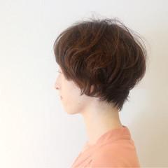 ゆるふわ ショート 外国人風 上品 ヘアスタイルや髪型の写真・画像