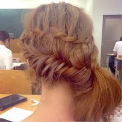 編み込み モテ髪 愛され ガーリー ヘアスタイルや髪型の写真・画像