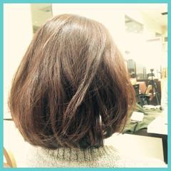 ゆるふわ 大人かわいい コンサバ ボブ ヘアスタイルや髪型の写真・画像