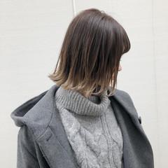 抜け感 グラデーションカラー ボブ 外国人風カラー ヘアスタイルや髪型の写真・画像