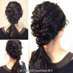 結婚式 ヘアアレンジ セミロング ゆるふわ ヘアスタイルや髪型の写真・画像