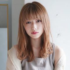 透明感カラー 似合わせカット セミロング デジタルパーマ ヘアスタイルや髪型の写真・画像