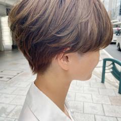 ミニボブ ショート ブリーチ ブリーチカラー ヘアスタイルや髪型の写真・画像