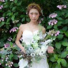 ヘアアレンジ フェミニン 結婚式 大人女子 ヘアスタイルや髪型の写真・画像